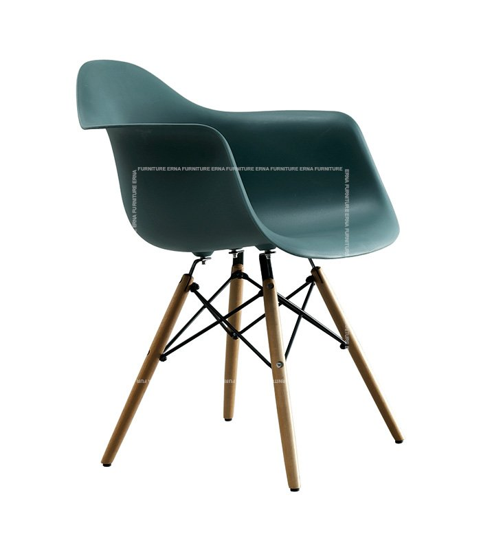Charles-Ray-Eames-Style-DAW-Dining-Chair---ABS-Dark-Green