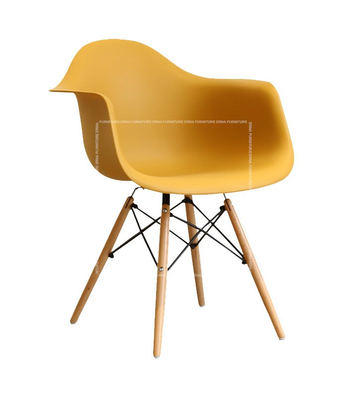 Charles-Ray-Eames-Style-DAW-Dining-Chair---ABS-Dark-Yellow