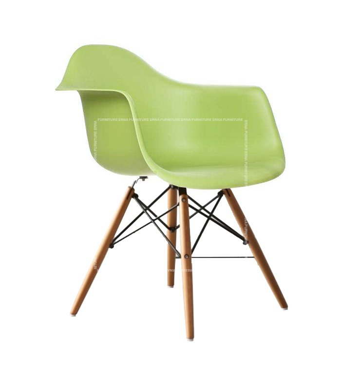 Charles-Ray-Eames-Style-DAW-Dining-Chair---PP-Polypropylene-green