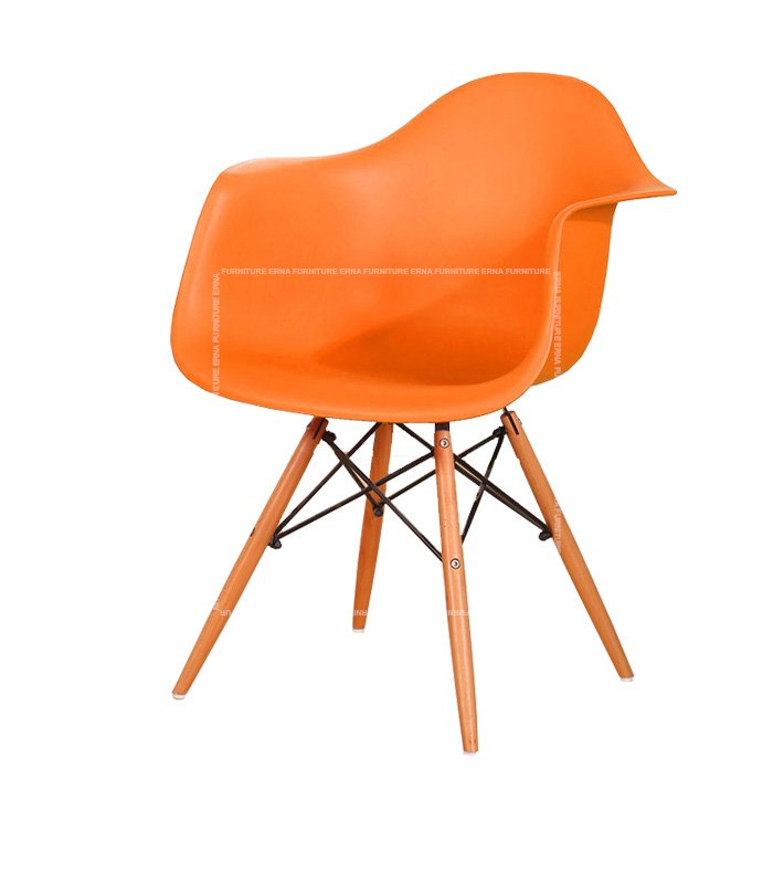 Charles-Ray-Eames-Style-DAW-Dining-Chair---PP-Polypropylene-orange