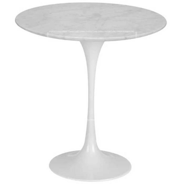 Eero Saarinen Tulip Style Marble Side Table