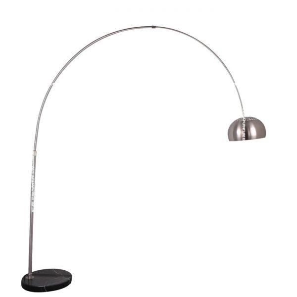 Flos-Arco-Style-Floor-Lamp---Black-Marble-Circular-Base-(1)