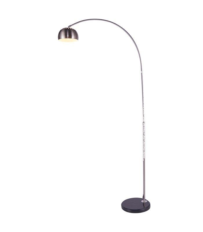 Flos Arco Style Floor Lamp Black Marble Circular Base Erna Furniture