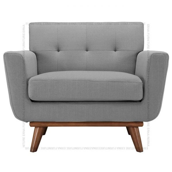 Kiruna Single seater fabric sofa Grey