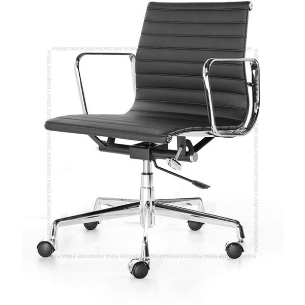 Eames Style low Back office chair Black