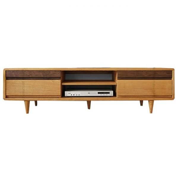 Oslo-Solid-Oak-Wood-TV-Cabinet-Walnut-Drawer