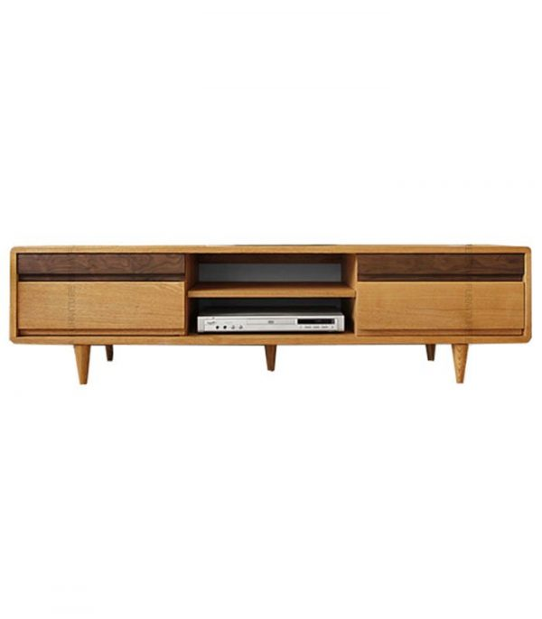 Oslo-Solid-Oak-Wood-TV-Cabinet-Walnut-Drawer