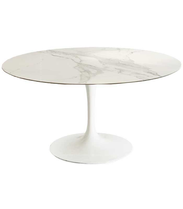 Tulip-Style-Round-Marble-Dining-Table--White-and-Black-Marble-(9)