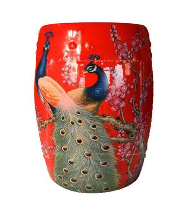Chinese Painting Ceramic Drum Stool (1)