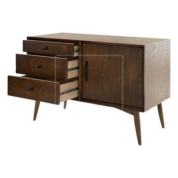 Hanni Solid Oak Wood Sideboard