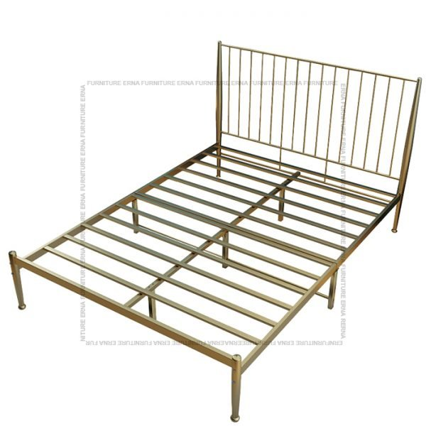 Metal Bed Frame - Gold (1)