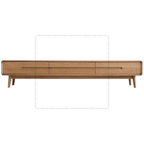Modson Solid Oak Wood TV Cabinet Oak