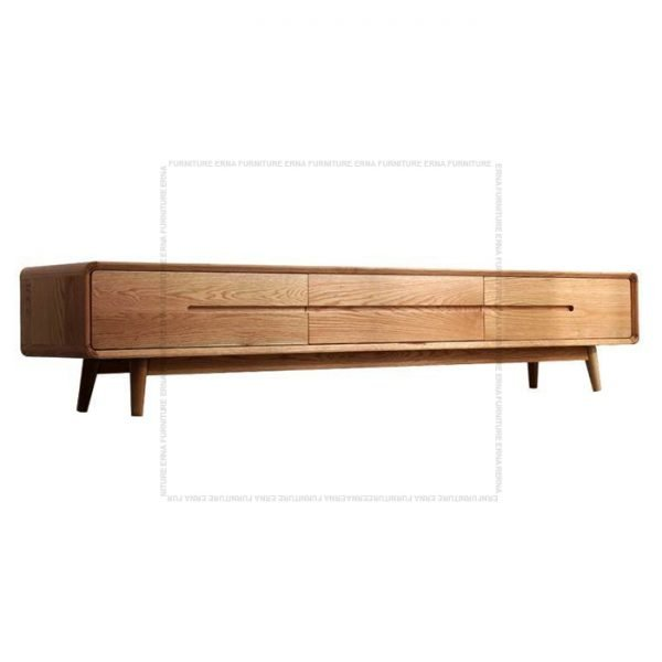 Modson Solid Oak Wood TV Cabinet