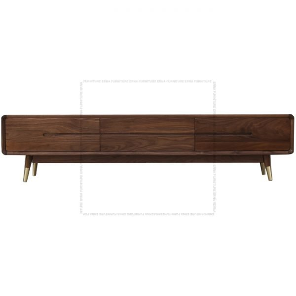 Modson Solid Oak Wood TV Cabinet Oak Walnut (2)