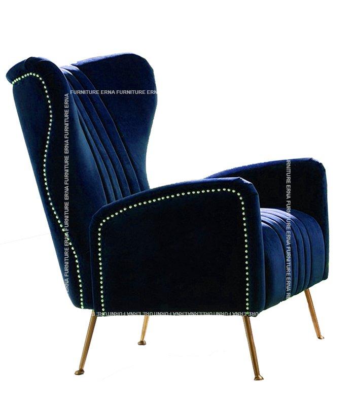 Trosa Italian Velvet Fabric Sofa ArmChair