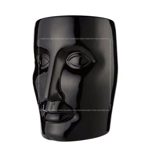 xO-Bonze Style Ceramic Head Stool Black
