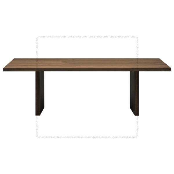 Banjul Solid Oak Wood Dining Table Dark