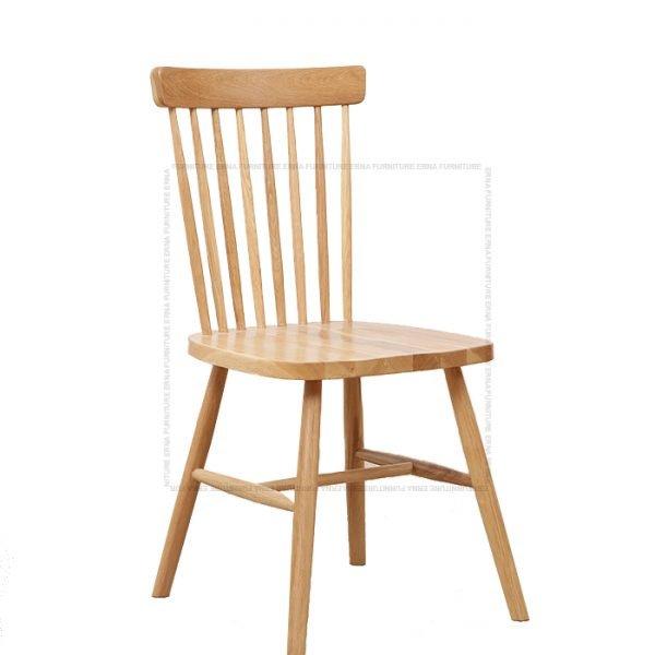 Deer Solid Oak Wood Dining Chair