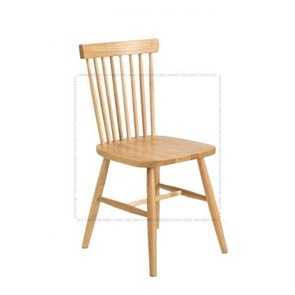 Deer Solid Oak Wood Dining Chair Oak