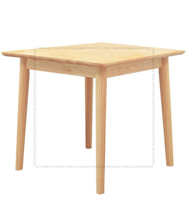Deer Solid Oak Wood Square Dining Table Oak