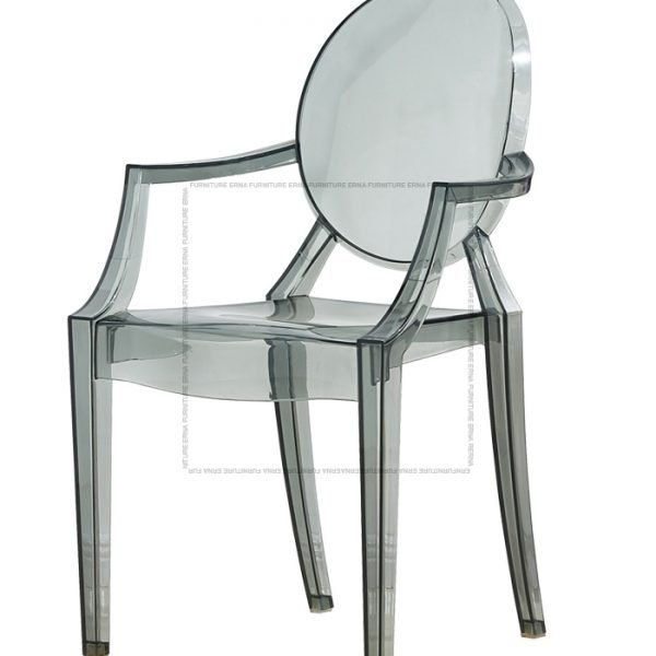 Kartell Louis Ghost Style Armchair Transparent Black