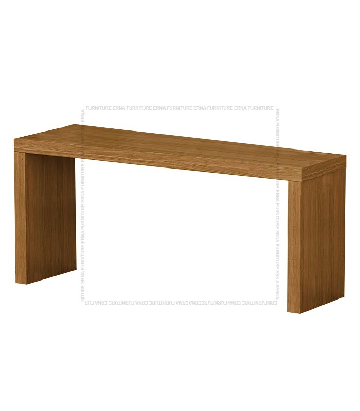 Kavi Solid Recycled Elm Wood Table Computer Desk Oak