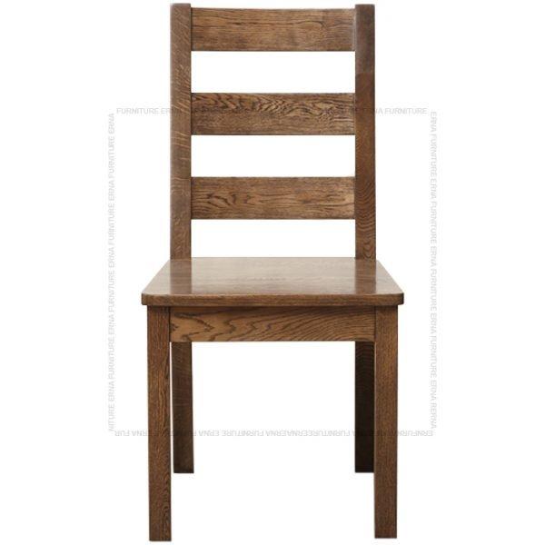 Malan Solid Oak Wood Dining Chair Walnut (2)