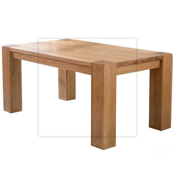 Malan Solid Oak Wood Dining Table