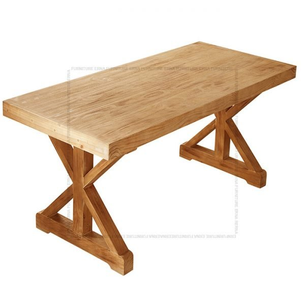 Orlando Country Style Recycled Elm Wood Dining Table