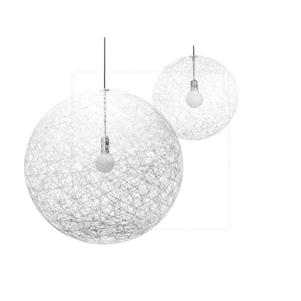 Woven Ball Pendant Lamp White
