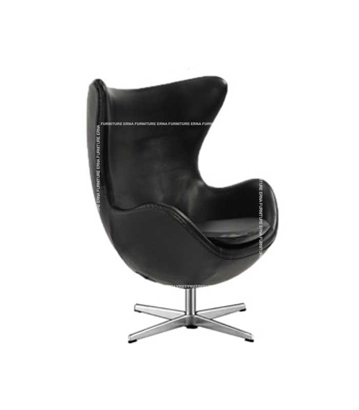 Arne-Jacobsen-Style-Leather-Egg-Chair-Black