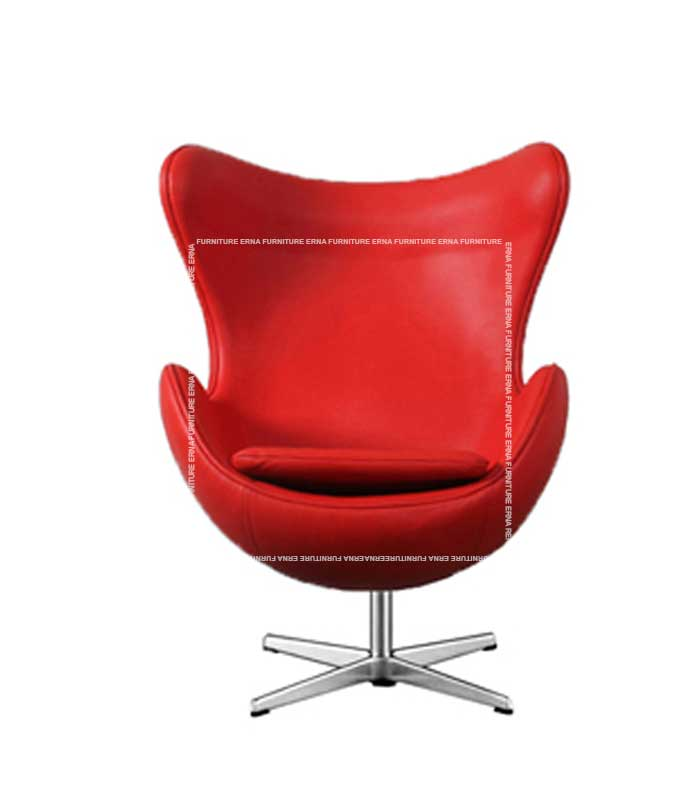 Arne-Jacobsen-Style-Leather-Egg-Chair-Red (1)
