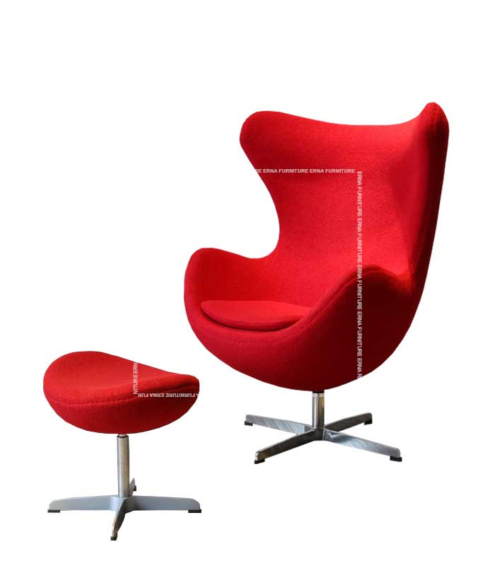 Arne-Jacobsen-Style-fabric-lounge-chair-with-ottoman