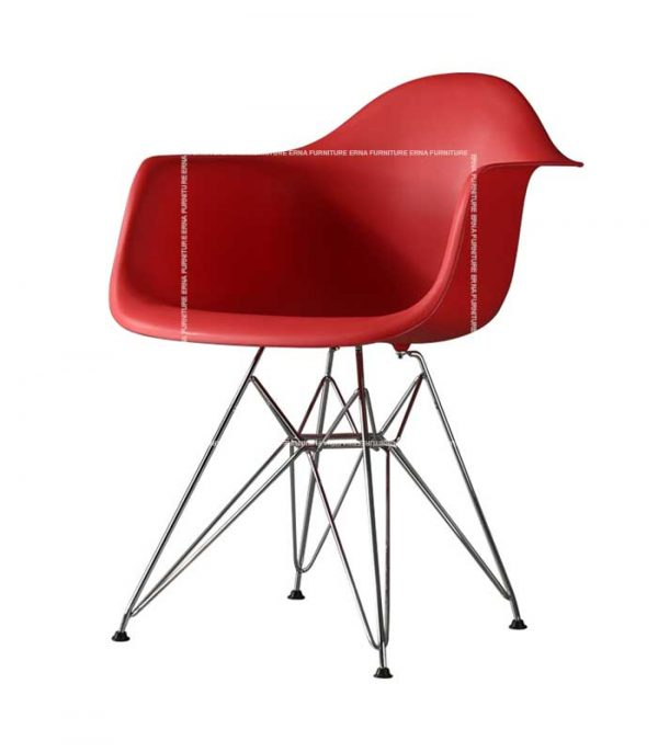 Charles-Eames-DAR-Style-Chair Red