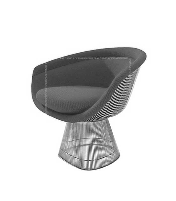 Warren-Platner-Style-Silver-Wire-Dining-Chair
