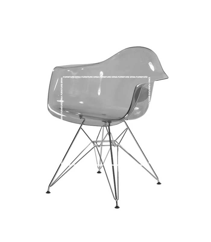 DSR Eames Style Eiffel Dining Chair-Transparent