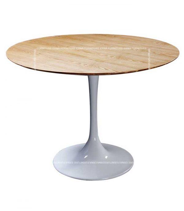 Eero Saarinen Tulip Style Wood Round Table