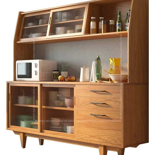 Hayden Solid Oak Wood Buffet & Hutch Hong Kong (4)