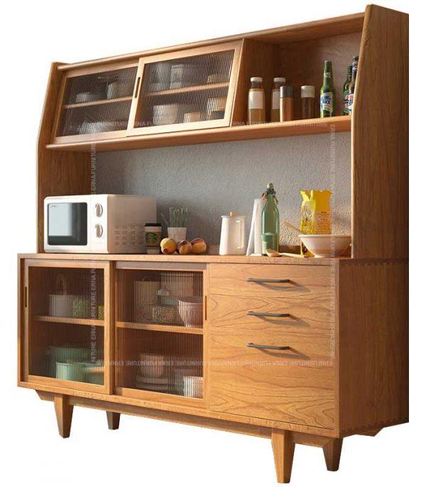 Hayden Solid Oak Wood Buffet & Hutch Hong Kong (4)
