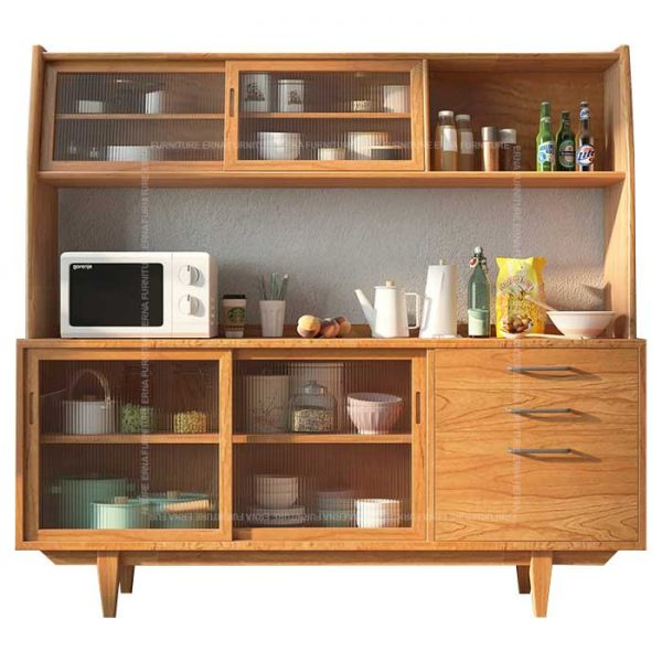 Hayden Solid Oak Wood Buffet & Hutch Hong Kong (2)