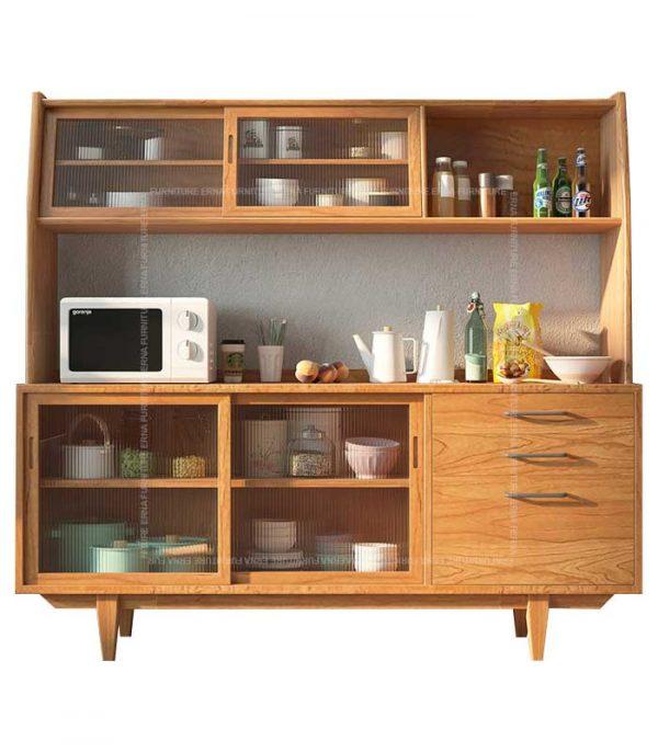 Hayden Solid Oak Wood Buffet & Hutch Hong Kong (2)