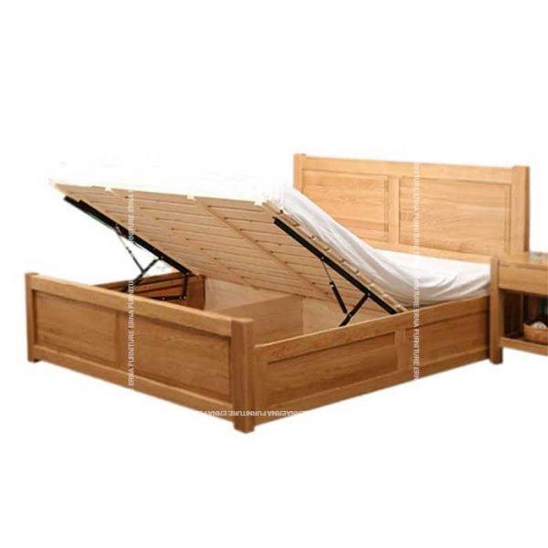 Vinoy-Solid-Oak-Wood-Bed-Frame-with-Storage (2) Hong Kong Furniture