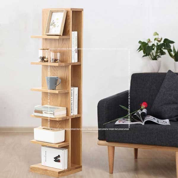 Monside Solid Oak Wood Bookshelves (3)
