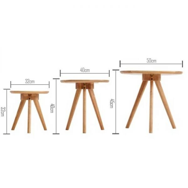 Pacific-Solid-Oak-Wood-Tri-End-Table Hong Kong Furniture