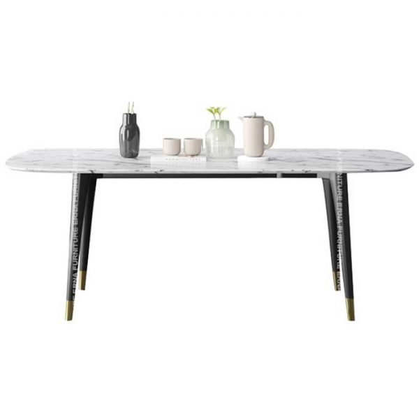 Camille Rectangular Marble Dining Table