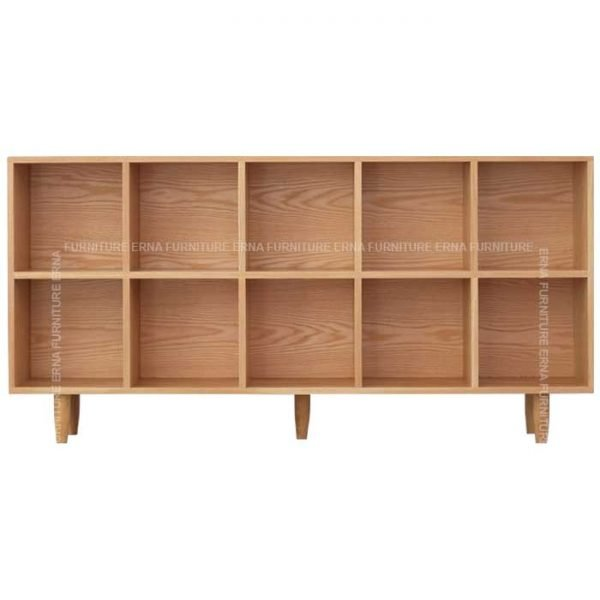 Cypher Solid Oak Wood Bookcase (3)