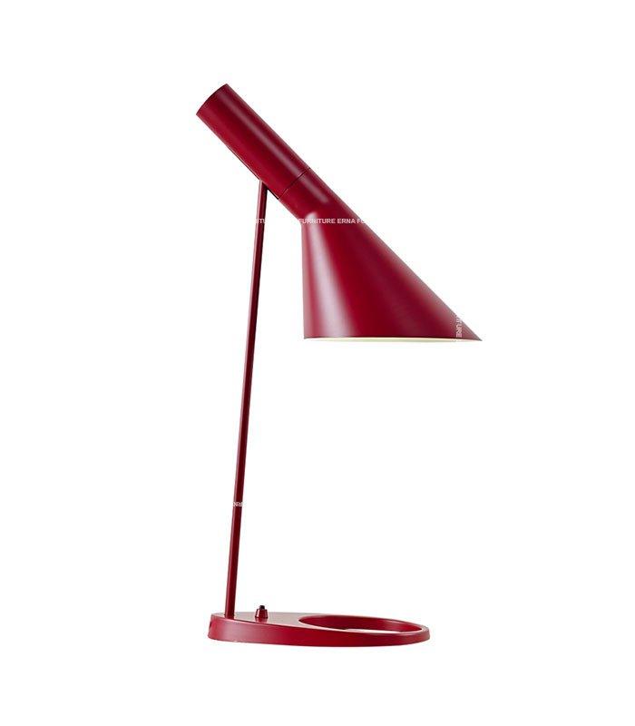 Arne-Jacobsen-AJ-Style-Table-Lamp-Maroon
