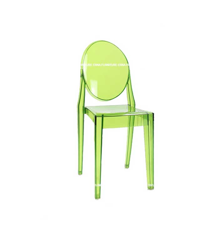 Ghost Victoria Style Transparent Dining Chair - Stackable (1)
