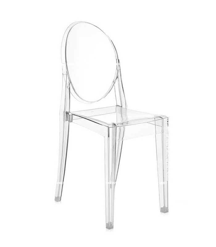 Ghost Victoria Style Transparent Dining Chair - Stackable (2)