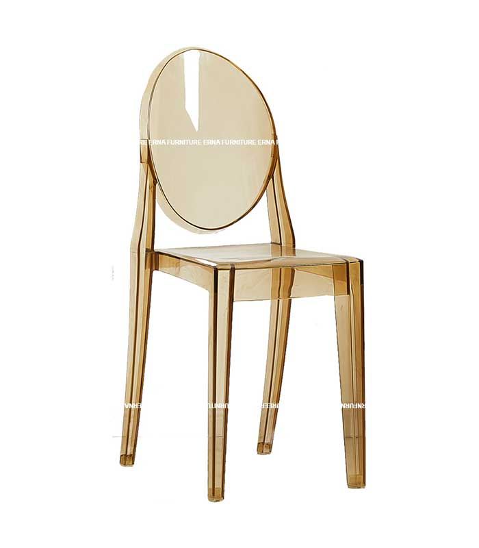 Ghost Victoria Style Transparent Dining Chair - Stackable (3)